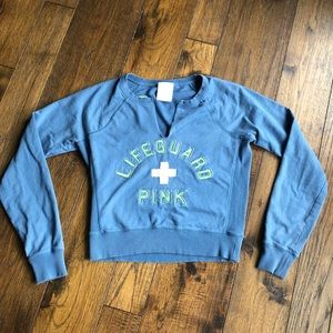 PINK Victoria's Secret Blue Lifeguard Sweatshirt